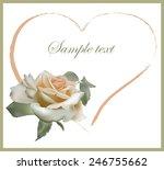decorative heart. hand drawn... | Shutterstock .eps vector #246755662