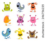 little monsters set 3 | Shutterstock .eps vector #246756235