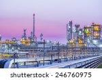 twilight scene of petroleum and ... | Shutterstock . vector #246760975