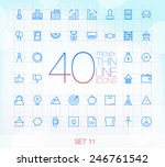 40 trendy thin icons for web... | Shutterstock .eps vector #246761542