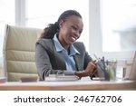 african business woman working... | Shutterstock . vector #246762706
