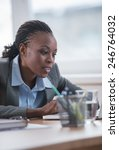 african business woman working... | Shutterstock . vector #246764032