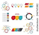 collection of infographic... | Shutterstock .eps vector #246765382