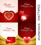 set of happy valentines day... | Shutterstock .eps vector #246774922