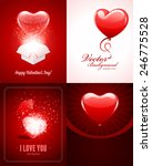 set of happy valentines day... | Shutterstock .eps vector #246775528