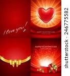 set of happy valentines day... | Shutterstock .eps vector #246775582