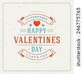 happy valentine's day greeting...   Shutterstock .eps vector #246775765