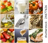 healthy food collage made from... | Shutterstock . vector #24677626