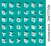 three dimensional techno... | Shutterstock .eps vector #246777106