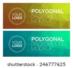 two horizontal polygonal banners | Shutterstock .eps vector #246777625