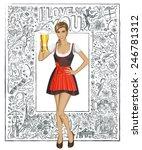 love concept. vector cute woman ... | Shutterstock .eps vector #246781312