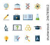 science flat icons set | Shutterstock .eps vector #246785812