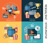 flat design concepts for cinema ... | Shutterstock .eps vector #246785836