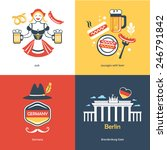 flat travel germany | Shutterstock .eps vector #246791842