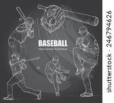 illustration of baseball. hand...   Shutterstock .eps vector #246794626