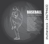 baseball background design.... | Shutterstock .eps vector #246794632
