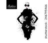 Fashion girl in sketch-style. Vector illustration. | Shutterstock vector #246795466