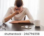 stressed business woman | Shutterstock . vector #246796558