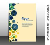 flyer or cover design with... | Shutterstock .eps vector #246800836