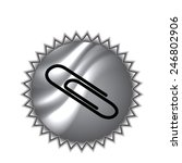 vector paper clip icon on round ... | Shutterstock .eps vector #246802906
