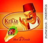 kebab hot   fresh | Shutterstock .eps vector #246804016