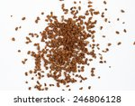 Scattered Instant Coffee On A...