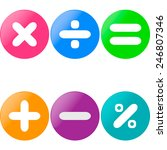 colored glossy buttons with... | Shutterstock .eps vector #246807346