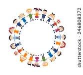 funny children  sketch for your ... | Shutterstock .eps vector #246808372