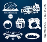 mountain logo and label set ... | Shutterstock .eps vector #246811225