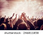 vintage style photo of a crowd  ... | Shutterstock . vector #246811858