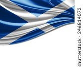 scotland flag and white... | Shutterstock . vector #246814072