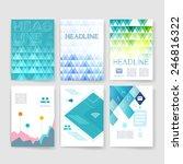 templatestemplates. set of web  ... | Shutterstock .eps vector #246816322
