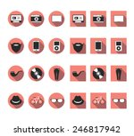 hipster vector icons set
