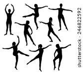 silhouette of a girl dancing... | Shutterstock .eps vector #246822592
