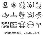 Map Vector Illustration Icon...
