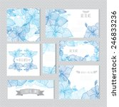 Elegant Cards With Decorative...