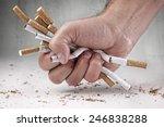 man refusing cigarettes concept ... | Shutterstock . vector #246838288