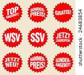 german supermarket buttons  ... | Shutterstock .eps vector #24683854