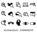 searching icons set | Shutterstock .eps vector #246848245