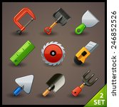 tools icon set 2 | Shutterstock .eps vector #246852526