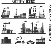 industrial building factory | Shutterstock .eps vector #246870502