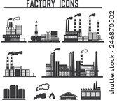 industrial building factory | Shutterstock .eps vector #246870502
