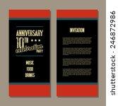 anniversary invitation card | Shutterstock .eps vector #246872986