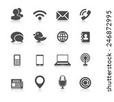 communication icons with... | Shutterstock .eps vector #246872995