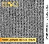 vector seamless gray knitting... | Shutterstock .eps vector #246876268