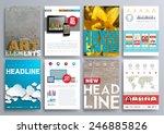 set of design templates for... | Shutterstock .eps vector #246885826