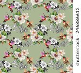 seamless pattern with wild... | Shutterstock .eps vector #246886612
