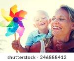 mother son fun relaxation...   Shutterstock . vector #246888412