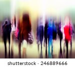 business people rush hour... | Shutterstock . vector #246889666