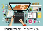 flat style  creative designers... | Shutterstock .eps vector #246894976